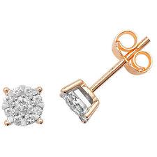 Diamond Earrings Stud Yellow Gold 0.26ctw Appraisal Certificate
