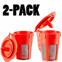 2 Pack Keurig 2.0 Refillable K-Carafe Reusable Coffee Filter Replacement Orange