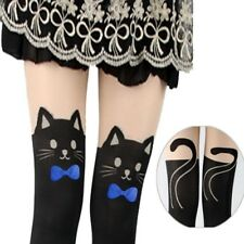 bas haute chat Cuisse Bas Coutures Cat Motif Collants Tall Chaussettes
