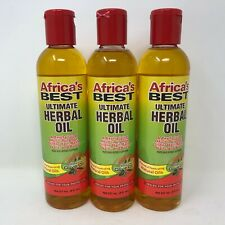 Africas Best Ultimate Herbal Oil 3 Pack Hot Treatment 8 oz Olive Oil Sealed New