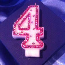 4th cuarto cumpleaños (cuatro) vela Diamante Rosa Princesa de fiesta de gastos de envío gratis