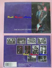 BOOK LIBRO THE ROLLING STONES 30 postcards cartoline 2004 HERCULES lp dvd live