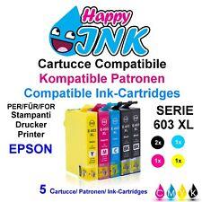 5 Cartucce per EPSON 603 XL Stella Marina WF 2810 2830 2835 2850 DWF