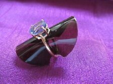 Gold 9ct Topaz Amethyst ring Size O