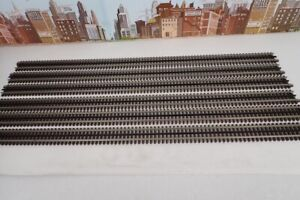 """Lot Of 6 Atlas No.6058 3 Rail O Gauge 40"""" Long Straight Track Sections"""