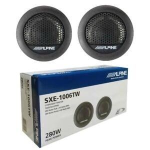 """ALPINE SXE-1006TW Car Van 1"""" 3cm 280 Watts Dome Tweeters Speaker Genuine Pair"""