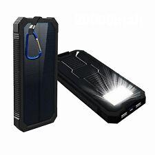 Caricabatterie Portatile POWER BANK 12000mAh ENERGIA SOLARE Doppia Porta USB