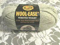 NEW LION BRAND WOOL-EASE Grey Heather Medium Yarn Acrylic Wool 85 g Turkey 15 1