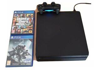 Console PS4 Slim 500 GO + Dualshock4 + 2 jeux + Bonus
