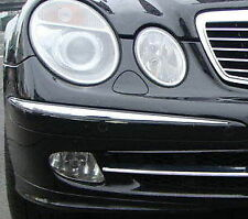 MERCEDES E CLASS W211  Chrome Front Bumper Trim 2002-2005