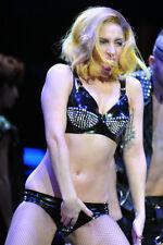 Lady Gaga fishnet stockings black sequin bra top raunchy concert 11x17 Poster