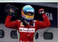 Fernando Alonso Ferrari Ganador Gran Premio de Malasia 2012 Firmado fotografía