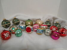 18 Christmas Ornaments Scenes Stencil Indent Mica Glitter Sizes Vary