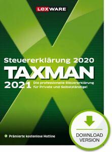 TAXMAN 2021 für die Steuererklärung 2020, Download (ESD), Windows