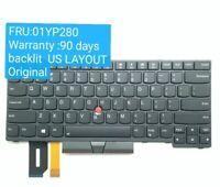 US Backlit Keyboard For Lenovo Thinkpad E480 E490 T480S L480 L380 01YP280 SN20P3