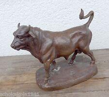 Große Tierbüste eines Stieren / Bullen bronziert mit Signatur Noisopa