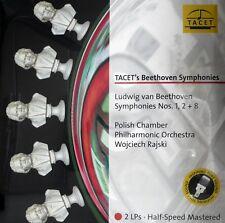 BEETHOVEN  SYMPHONIES 1,2+8 TACET  L-238  2LP - RAJSKI HALF SPEED MASTERED