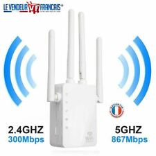 Répéteur Extendeur WiFi 1200 Mbps Amplificateur WiFi Dual Band 5GHz 2.4GHz