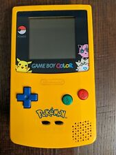 Authentic Nintendo Game Boy Color Pokemon Edition with Pikachu Case