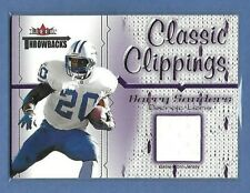 BARRY SANDERS - LIONS - 2002 FLEER CLASSIC CLIPPINGS - GAME WORN JERSEY - WOW!
