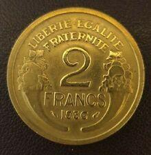 (#1726) FRANCE Pièce de 2 Francs Morlon 1936 en Bronze-Alu 7,91 grammes
