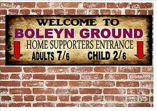 Boleyn Ground West Ham Style Metal Sign Football  Vintage Sign