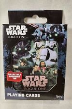 Disney Star Wars Rogue One Playing Cards with Collectible Embossed Tin