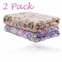 2Pack Puppy Blankets for Pet Cushion Small Dog Cat Bed Car Soft Warm Sleep Mat