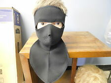MOTORCYCLE COLD WEATHER NEOPRENE NECK SHIELD FACE MASK FULL COVERAGE NECK & FACE