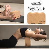 Cork Wood Exercise ONDA YOGA BLOCK WAVE Brick For Fitness Stretching Gym Pilates