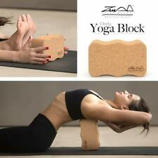 Cork Wood Exercise ONDA YOGA BLOCK WAVE Brick For Fitness Stretching Gym Pilates
