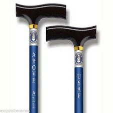 US Air Force Adjustable Blue Shaft Walking Cane Stick Patriotic Military SUPPORT