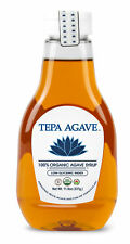 Tepa Agave 100% Pure Organic Blue Agave Syrup - Light Agave Flavor - 11.9 oz