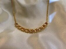 4.25 Ct, Natural, Citrine Necklace, 14K Yellow Gold Overlay Sterling Silver