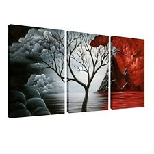 Canvas Prints Pictures For Living Room Happy Tree Wall Decal Oil Painting Art