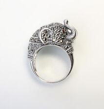 9927106 925er Silber Markasit-Ring Elefant Gr.56
