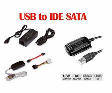 """Cavo USB 2.0 Adattatore Convertitore SATA / IDE hardisk 2.5"""" - 3.5"""". Veloce HDD"""