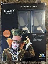 Sony 3D Deluxe Starter Kit - 3D Glasses Disney Alice in Wonderland 3D BluRay NEW