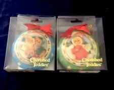 2 New Enesco Christmas Ornaments 1996 Cherished Teddies