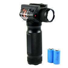 Tactical Vertical Foregrip with LED Flashlight Laser Sight - 20mm Rail Mount