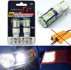 Hyper Flash Free LED Light 7440 White 6000K Two Bulbs Rear Turn Signal Lamp Fit