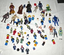 Mixed Group of About 50 People Figurines Sesame Street Lego Harry Potter more