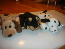 Ty Retired Beanie Babies X 3 Dogs Bones, Doby, Dotty