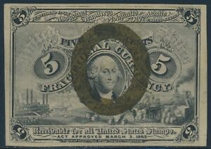 FR1232 5¢ 2ND ISSUE FRACTIONAL CURRENCY -- GEM CU -- BU3444