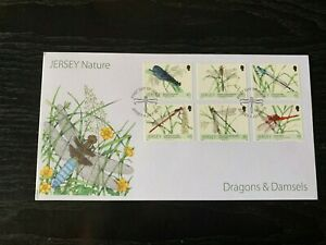 NEW21 - 2013 - JERSEY FDC's ~ NATURE ~ DRAGONS & DAMSELS