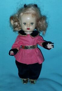 VINTAGE NANCY ANN MUFFIE DOLL GORGEOUS EYES WEARING VOGUE GINNY TV OUTFIT #46 ❤