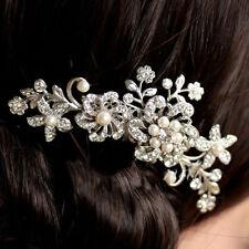 sposa gioielli argento strass cristalli fiore matrimonio perle