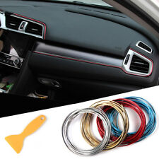 5M Car Interior Molding Trim Insert Decor Strip Line Gap Chrome Filler 16ft Kit