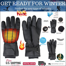 Heated Thermal Gloves Men & Women - Electric Rechargeable Battery Heating Gloves