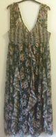 Womens Wallis Floral Maxi Dress Size 20 embelished Bardot style maxi